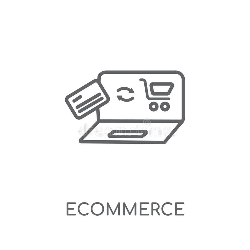 Ecommerce linear icon. Modern outline Ecommerce logo concept on royalty free illustration