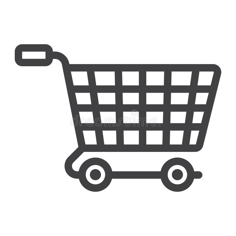 Ecommerce solutions line icon, seo and development royalty free illustration