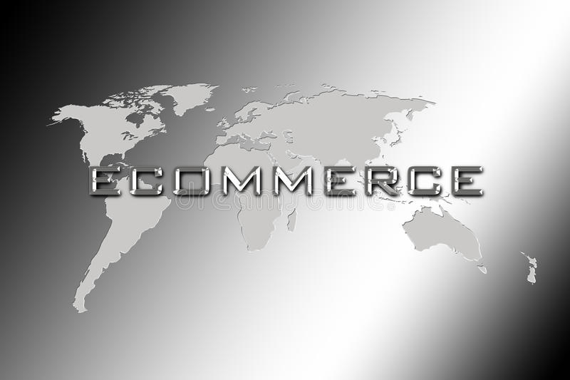 Ecommerce World Consulting vector illustration