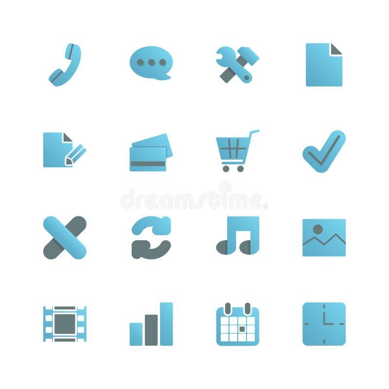 Ecommerceiconset för rengöringsdukdesign vektor illustrationer