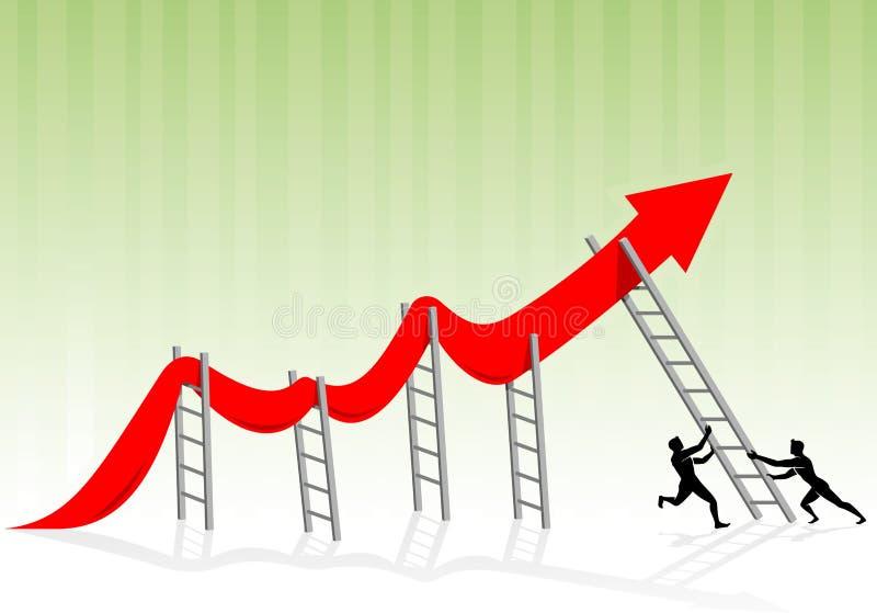 Economía débil favorable ilustración del vector