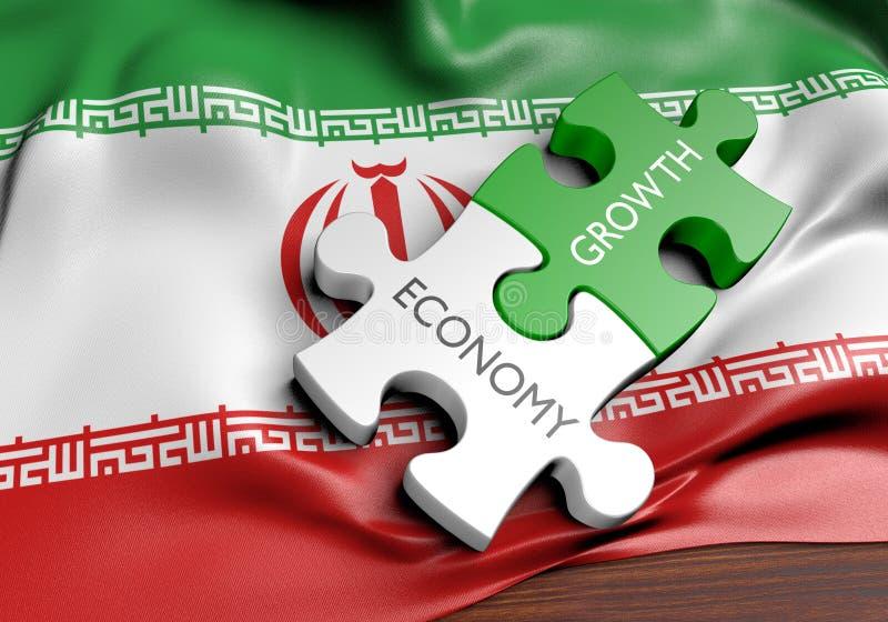 Economía de Irán y concepto del crecimiento del mercado financiero libre illustration