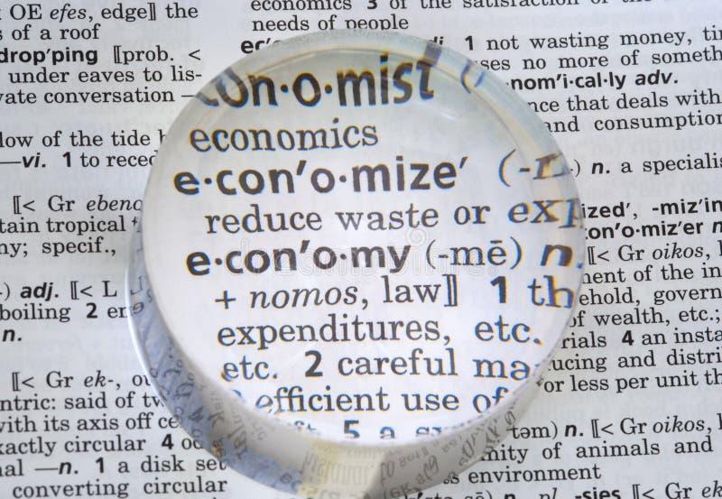 Economía definida imagen de archivo libre de regalías