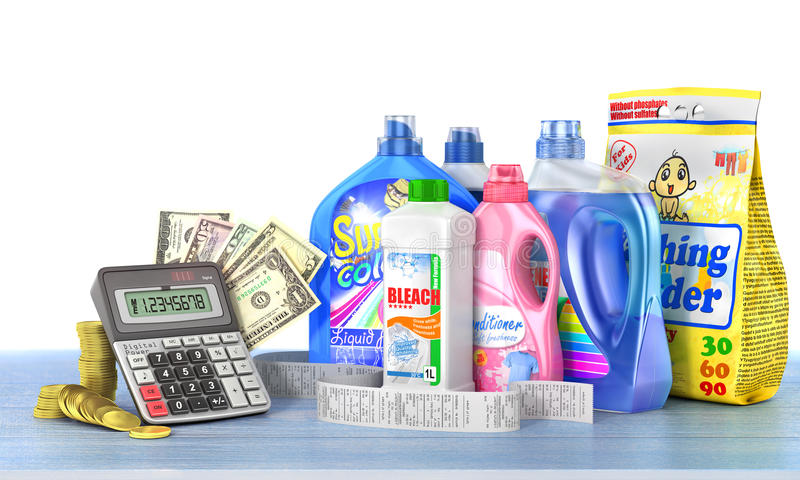 Economía en detergentes ilustración del vector