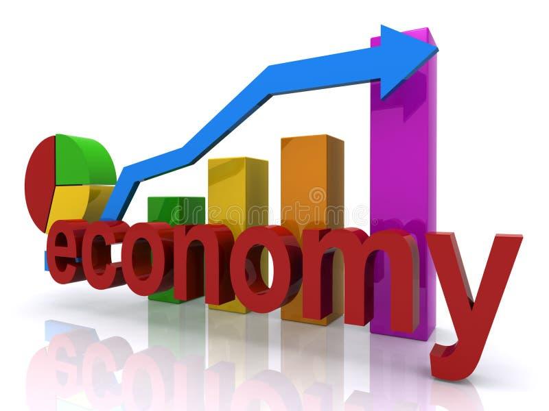 Economía en el rebote ilustración del vector