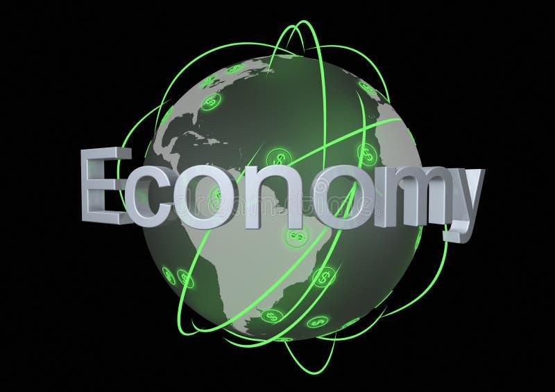 Economía global stock de ilustración