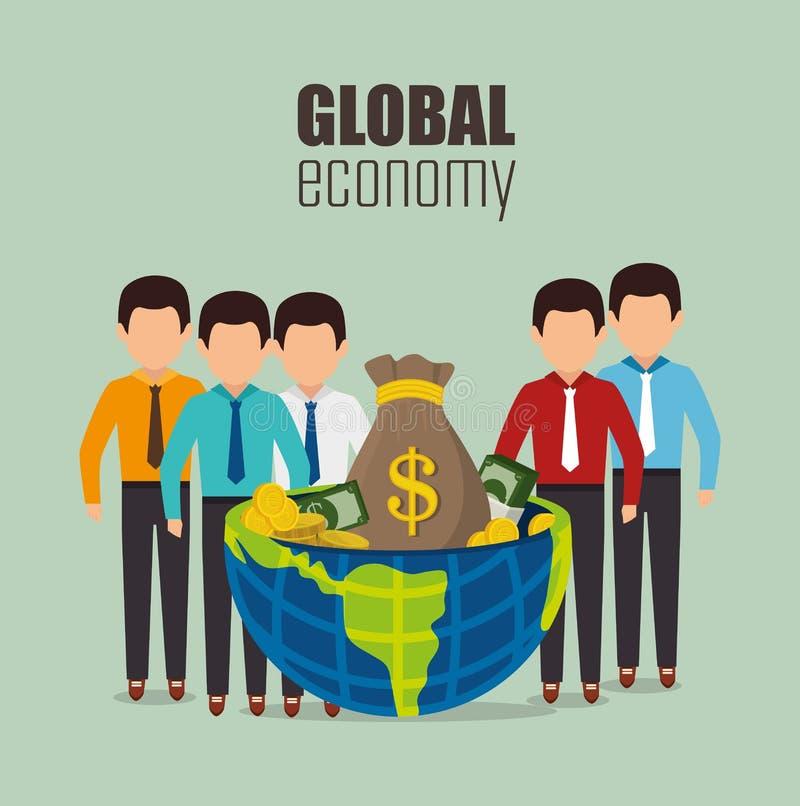 Economía global, dinero y negocio libre illustration