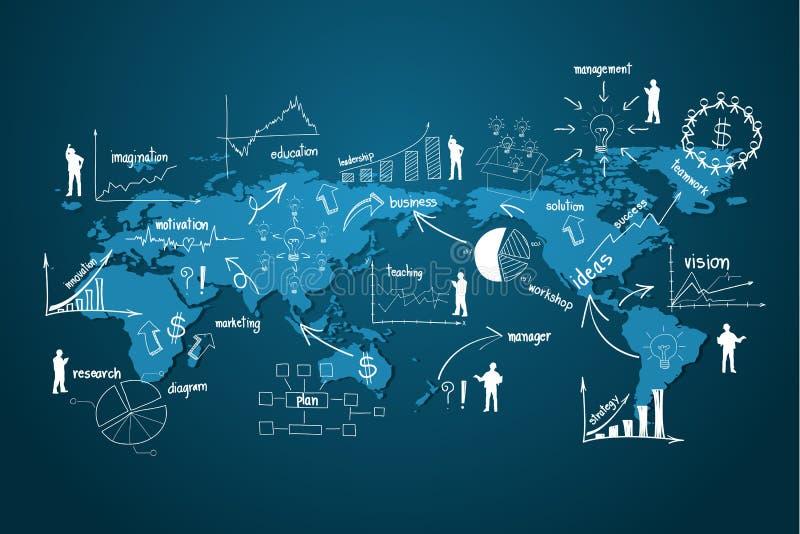 Economía moderna del negocio global del vector libre illustration