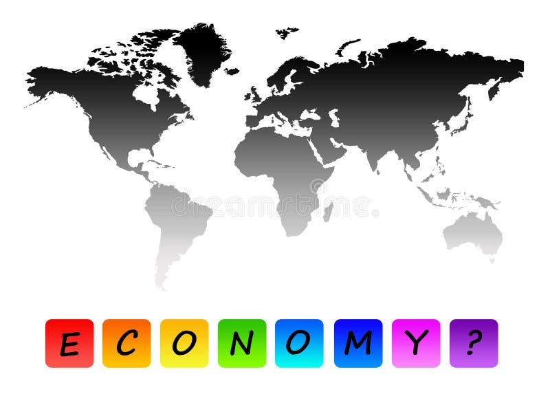 Economía mundial ilustración del vector