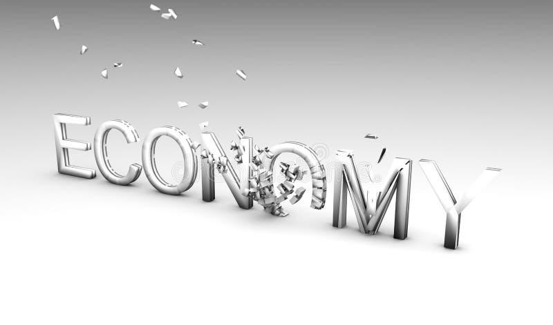 Economía que desmenuza ilustración del vector