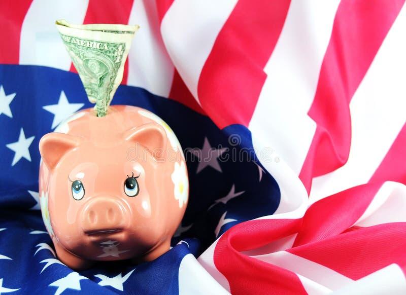 Economia americana fotografia de stock