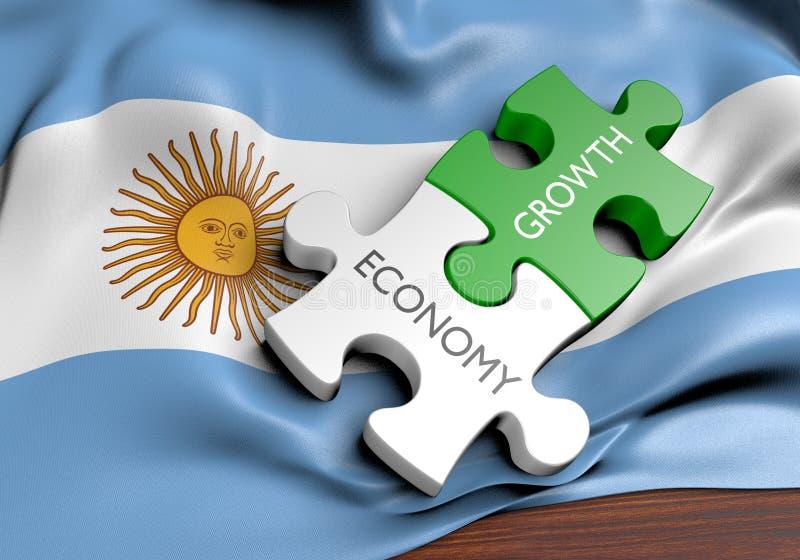Economia de Argentina e conceito do crescimento do mercado financeiro ilustração royalty free