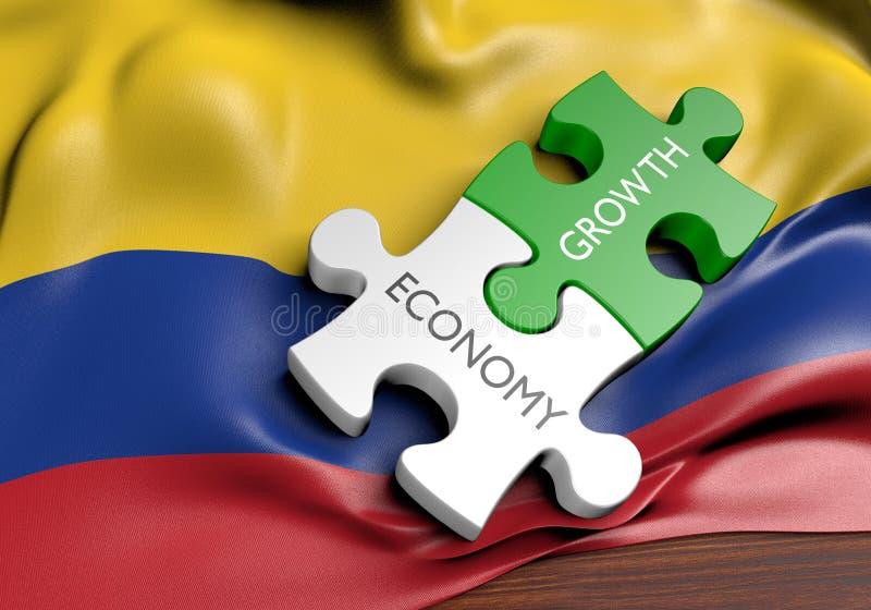Economia de Colômbia e conceito do crescimento do mercado financeiro ilustração royalty free