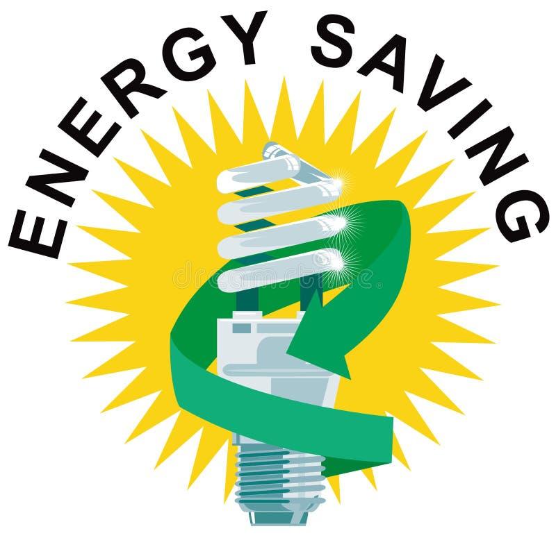 Economia de energia da ampola ilustração do vetor