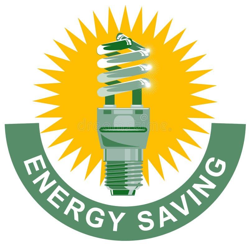 Economia de energia da ampola CFL ilustração do vetor