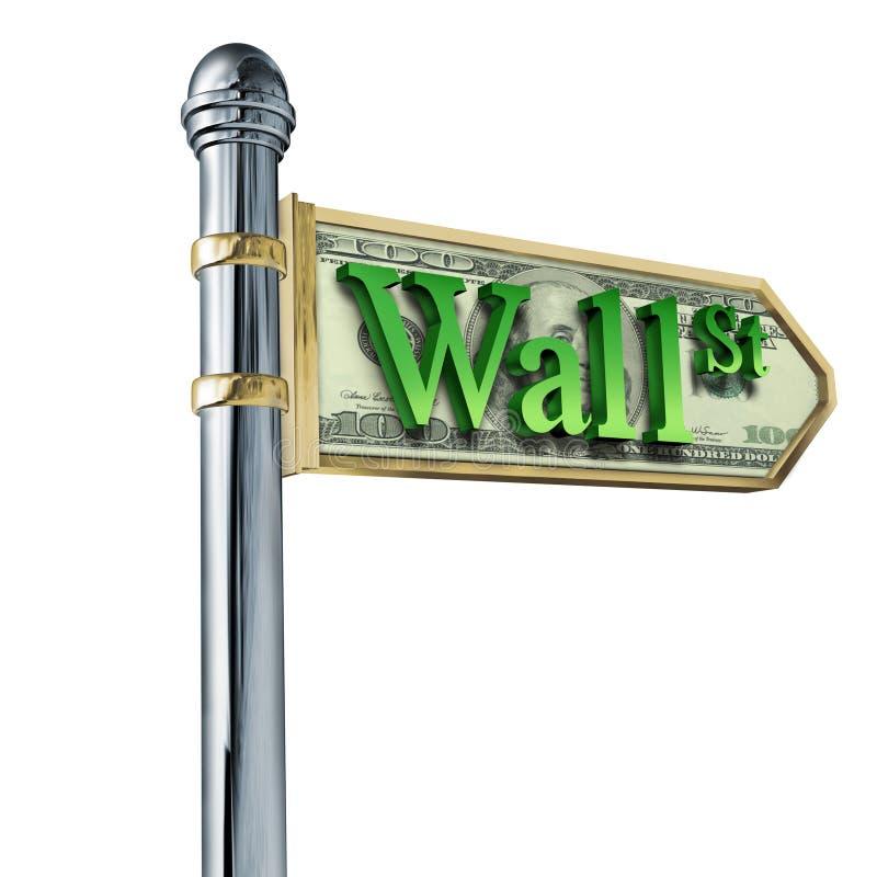 A economia de Wall Street estoca o sinal ilustração do vetor