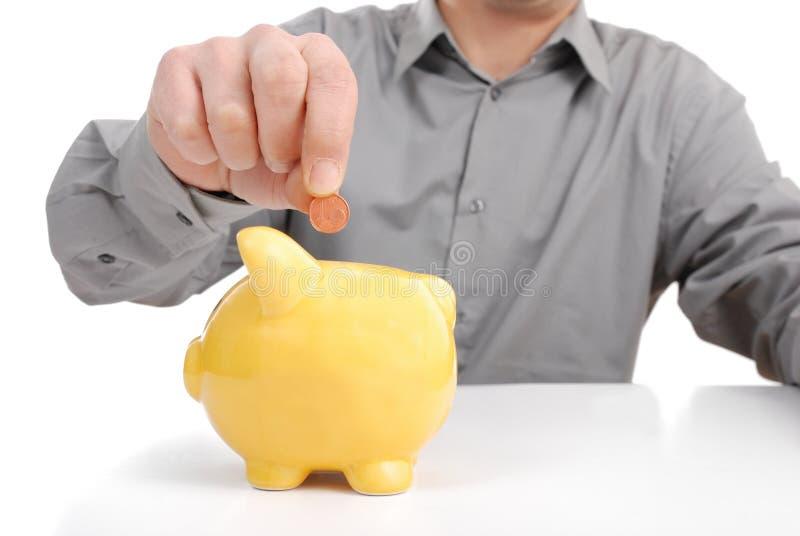 Economia do centavo piggy fotografia de stock