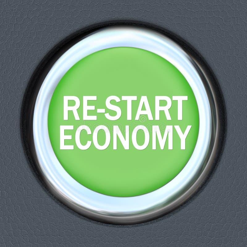 Economia do reinício - acionador de partida da tecla do carro ilustração stock