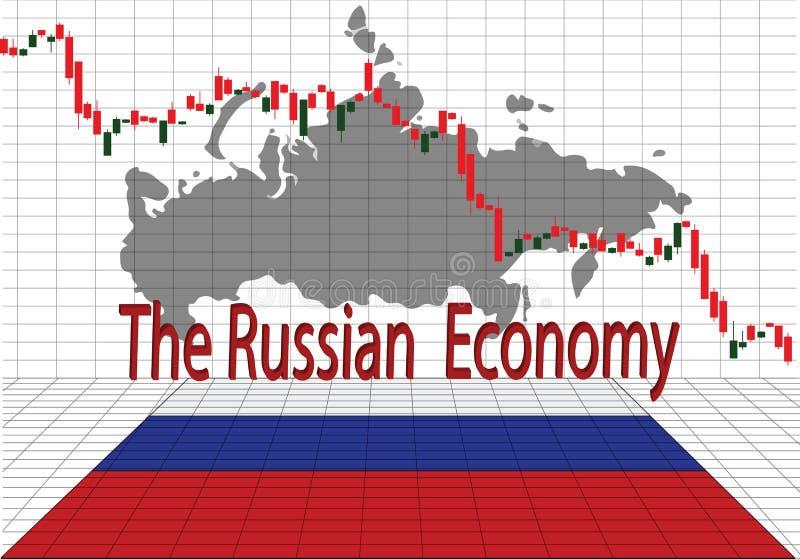 A economia do russo ilustração royalty free