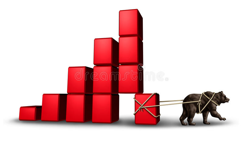 Economia do urso ilustração stock