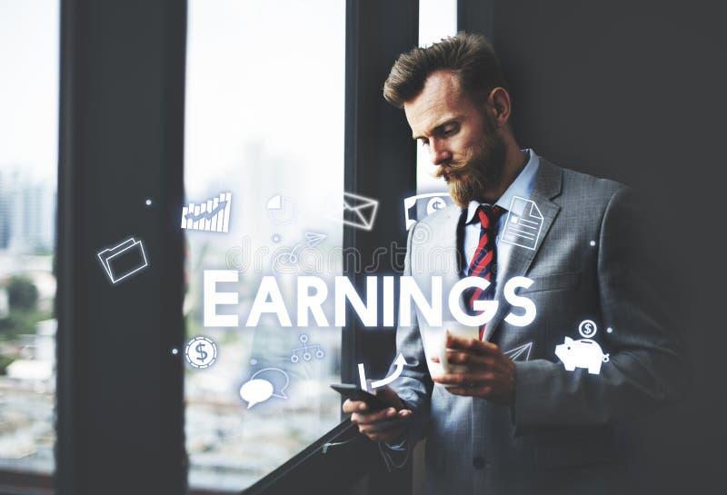 A economia financeira da renda do salário do lucro continua conceito imagem de stock royalty free