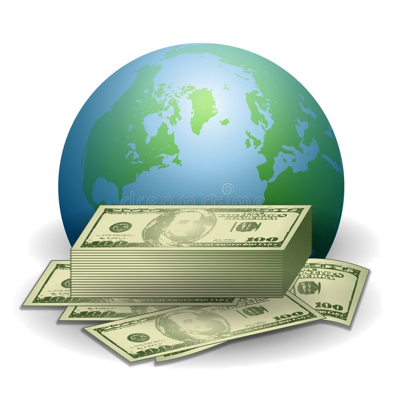 Economia global da terra do dinheiro ilustração royalty free