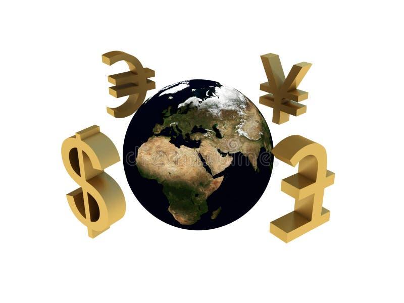 Economia mundial ilustração royalty free