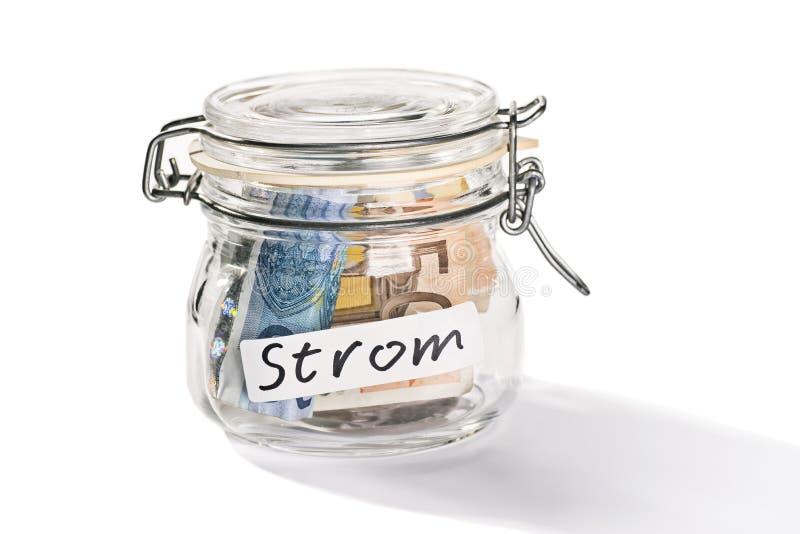 Economia para os custos de eletricidade imagens de stock royalty free