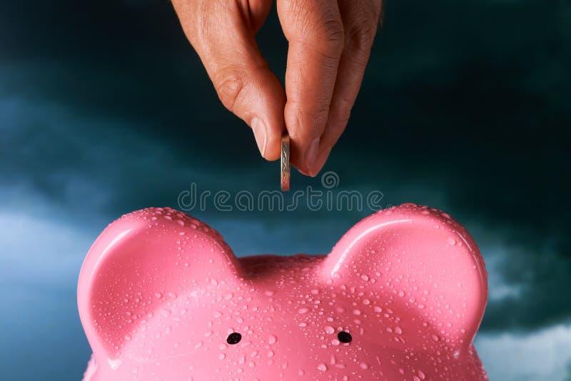 Economia por um dia chuvoso fotografia de stock royalty free