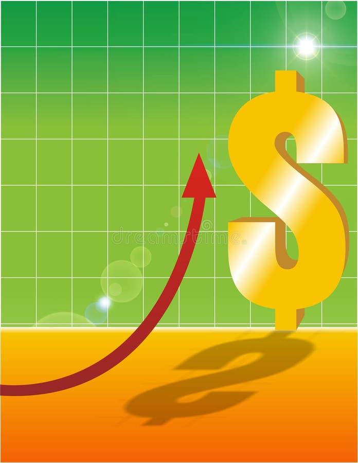 Economia que vai acima imagem de stock royalty free