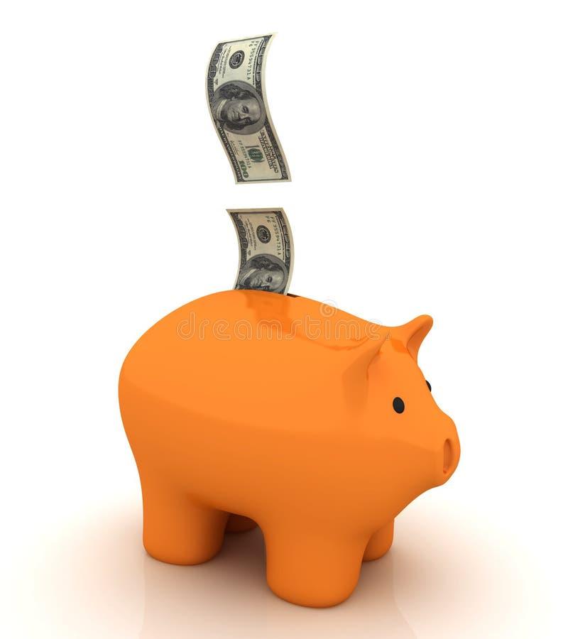 Economias do banco Piggy ilustração do vetor