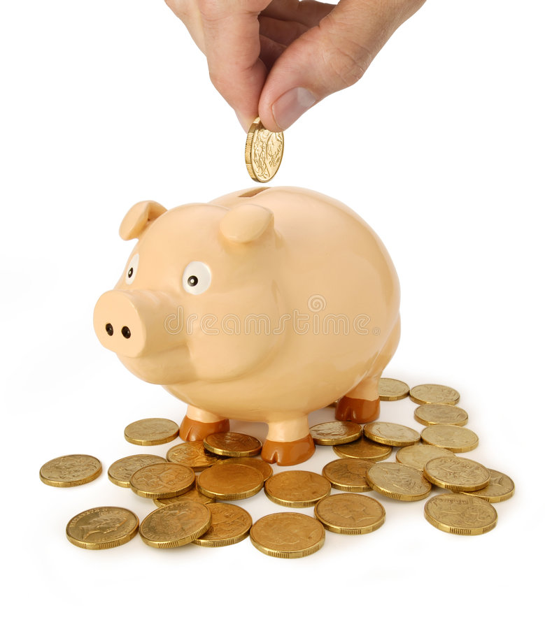 Economias do banco Piggy fotos de stock royalty free