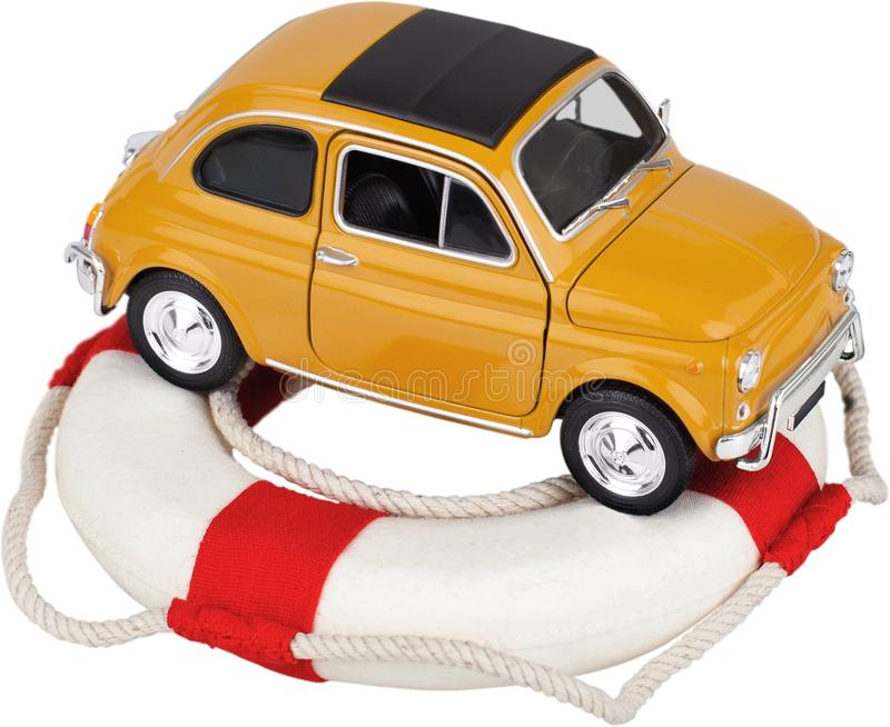 Economias do carro ou proteção do seguro do veículo foto de stock royalty free