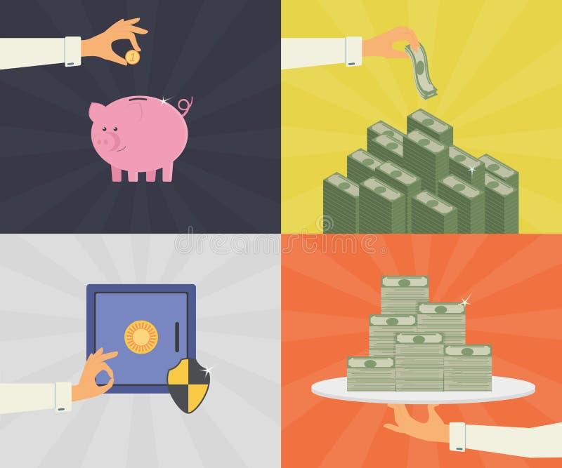 Economias do dinheiro ilustração royalty free