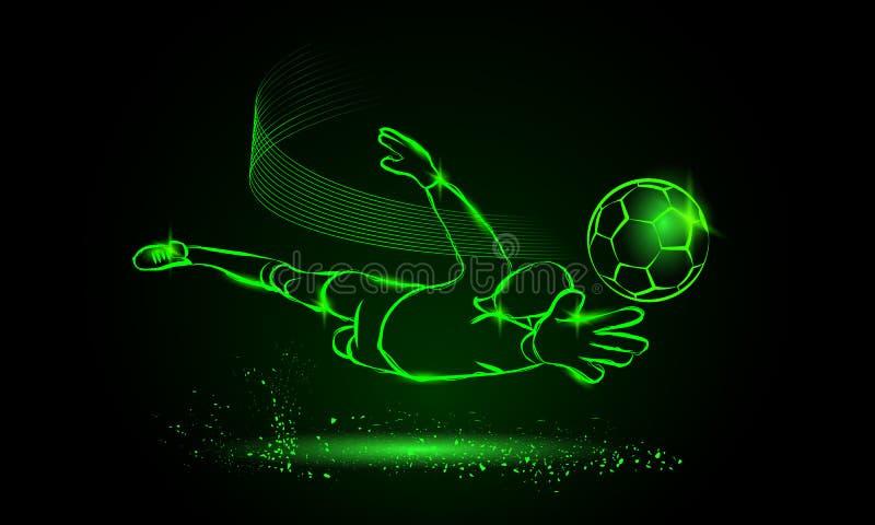 Economias do futebol do goleiros ilustração royalty free