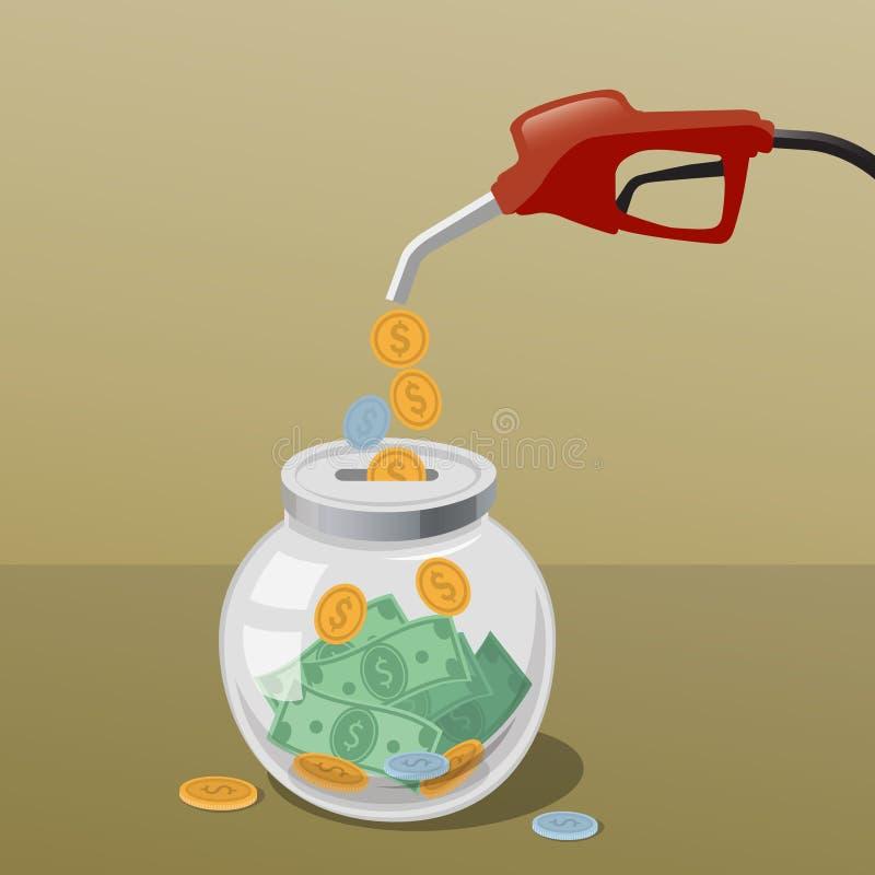 Economias do gás fotografia de stock
