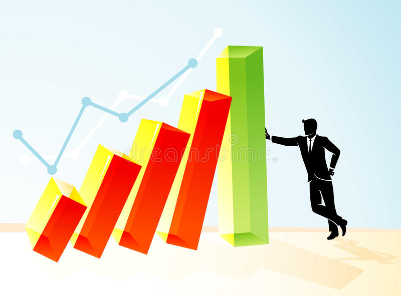 Economic Business Stability royalty free illustration
