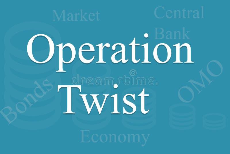 Design Bank Twist.Economic Concept Operation Twist With Bonds Market Omo Or Open