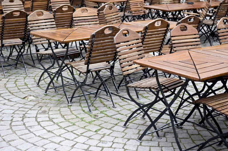 Economic Downfall. An empty cafe in Germany displaying the effects of an economic downfall stock photo