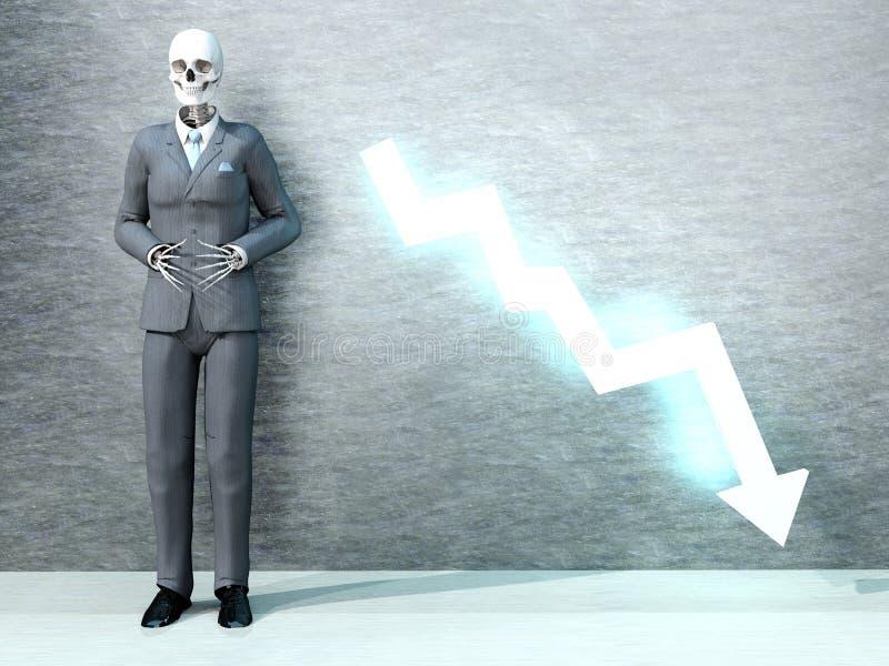 Download Economic death stock illustration. Image of evil, inflation - 29882708