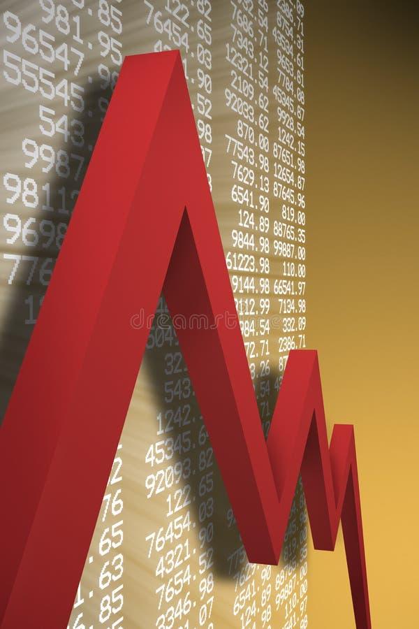 Economic downturn vector illustration