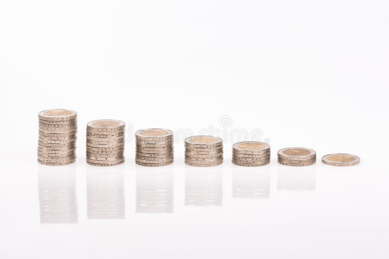 Economic downturn in the Euro zone royalty free stock image