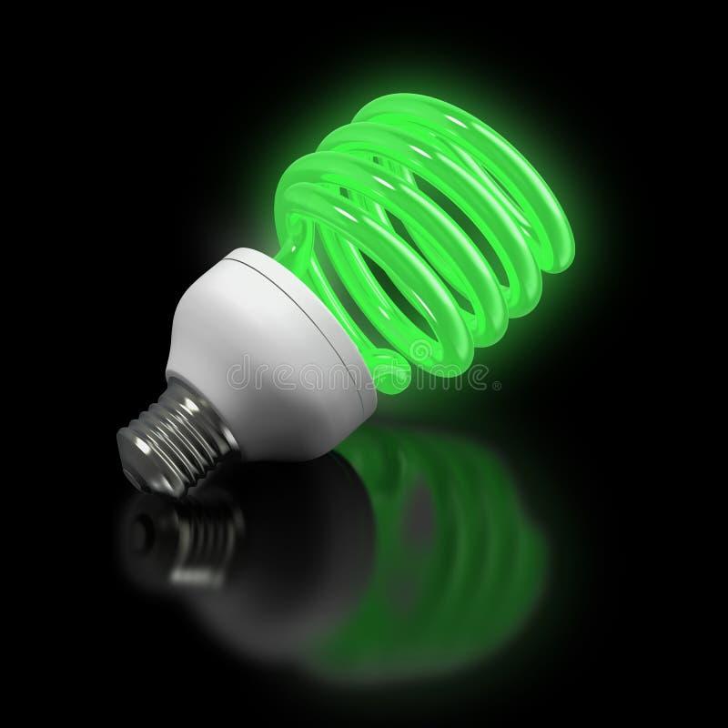 Modern ecological fluorescent light bulb. Economic fluorescent ecological light bulb on white background vector illustration