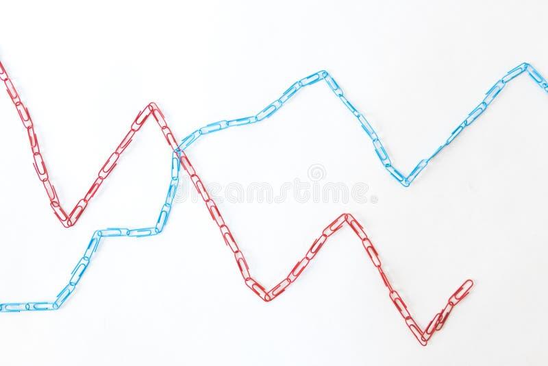 Economic graph diagram royalty free stock images