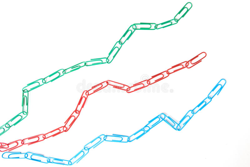Economic graph diagram stock photo