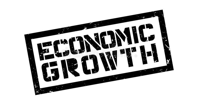 Economic Growth rubber stamp. On white. Print, impress, overprint vector illustration