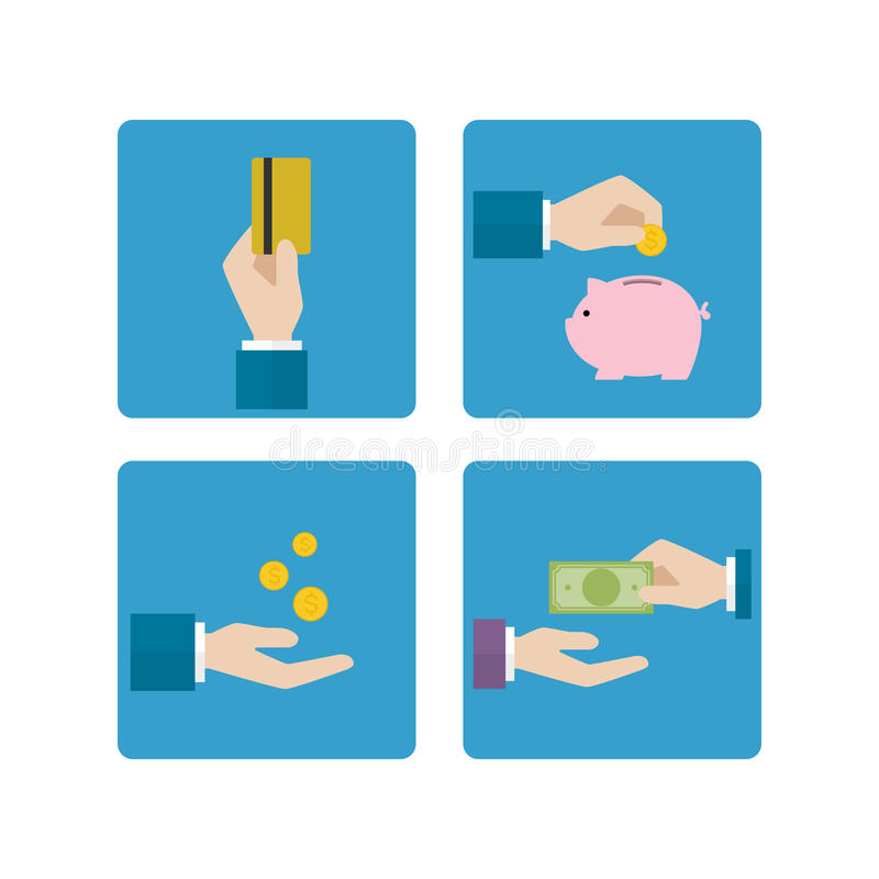 Economic hand icon royalty free illustration