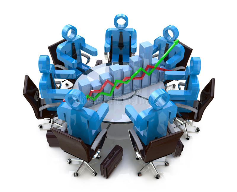 Economic meeting royalty free stock photo