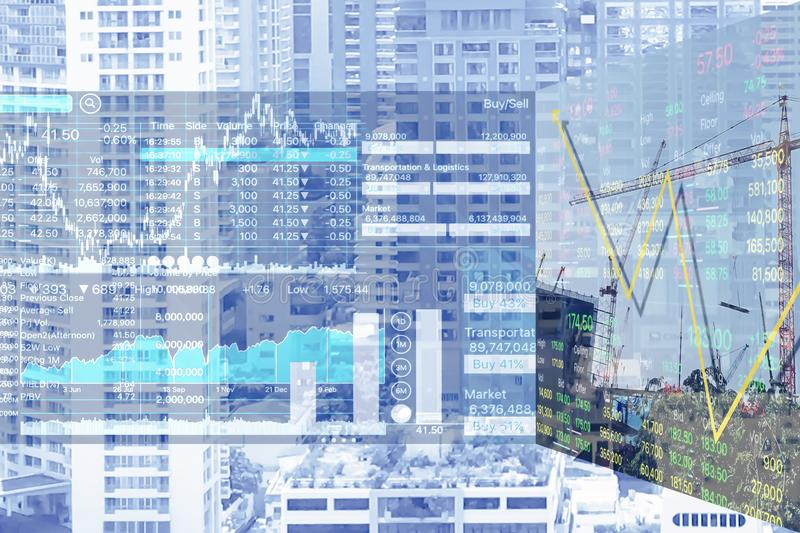 Economic problems and Business crisis on Real Estate Sector. stock photography
