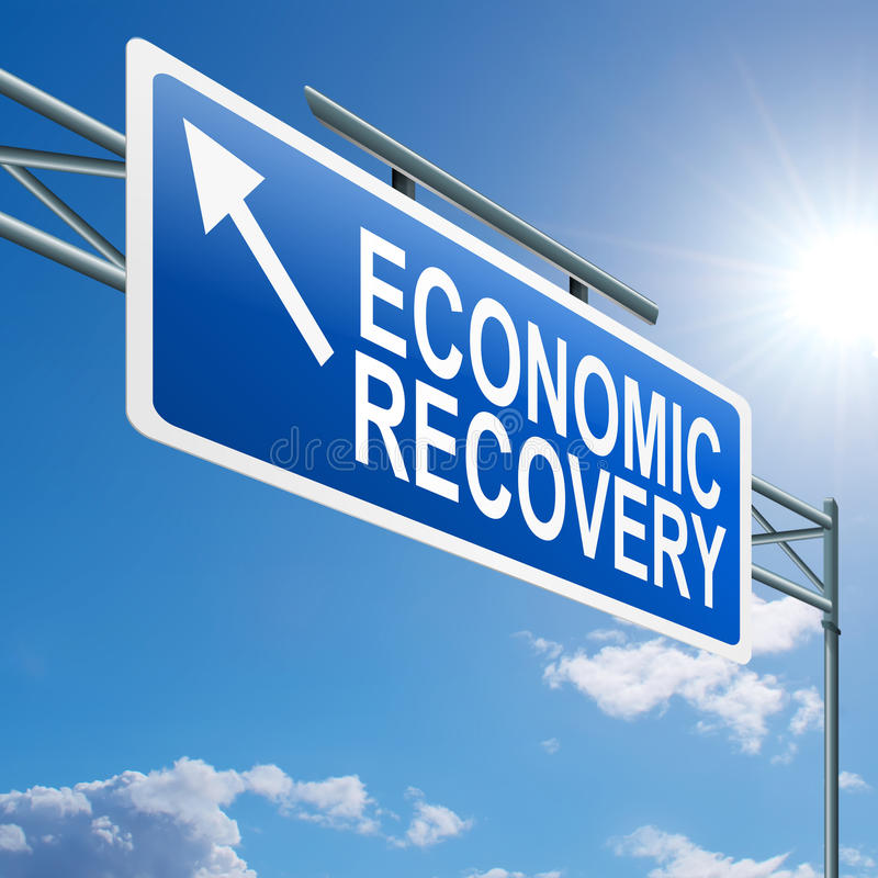 Economic recovery sign. royalty free illustration
